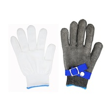 Safety Proof Protect Stainless Steel Wire Safety Gloves Cut Metal Mesh Butcher Anti-cutting breathable Work Gloves.