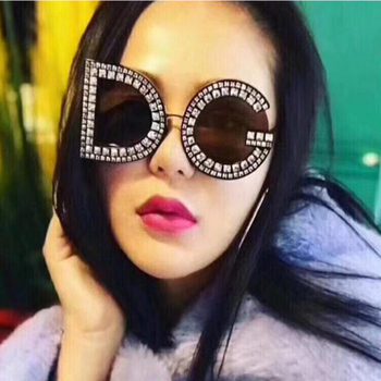 Good quality Diamond Oversize Square Sunglasses