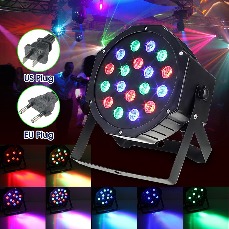 RGB LED Stage Light Lamp 24W PAR DMX-512 Voice Control Laser Projection Stage Lighting Effect Party Disco KTV DJ Decor 110-220V