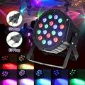 RGB LED Stage Light Lamp 24W PAR DMX-512 Voice Control Laser Projection Stage Lighting Effect Party Disco KTV DJ Decor 110-220V