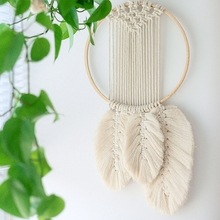 INS Wall Hanging Macrame Decor Large Above Bed Neutral Boho Home Woven Tapestry