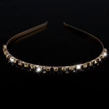 Tiara Crystal Golden Hairbands