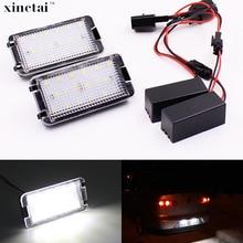 2 pcs Canbus Do Carro Super Brilhante número LED license plate luz Para Seat Leon Altea Arosa Toledo Ibiza 6L 5 p Cordoba