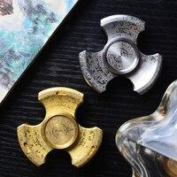 Royal Egypt Maya Seiko Rotablade Fidget Spinner Torqbar Brass Finger Spinner EDC Toys Tri Spinner Hand