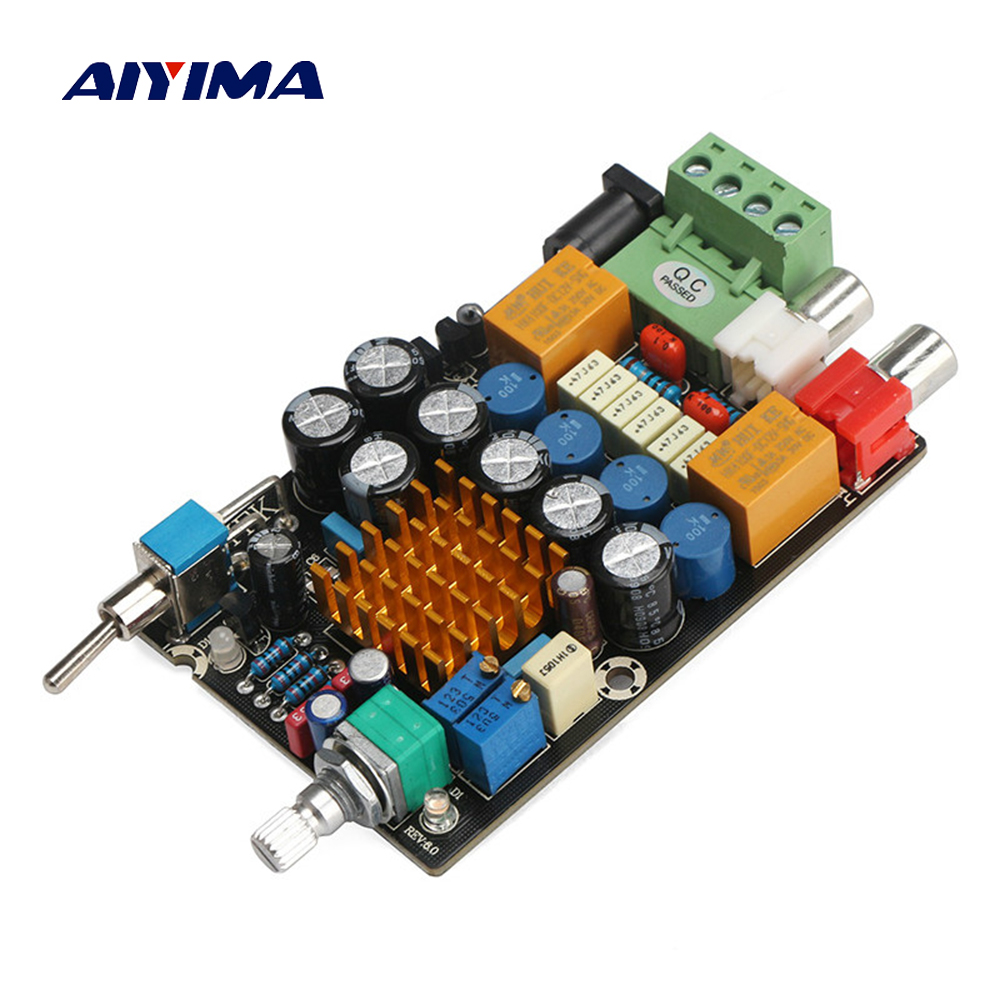Aiyima DC12V TA2021B Audio Amplifier Board 25W*2 Dual Channel Digital Amplifier Board Better Than TDA7492 TPA3123 aiyima hi fi pam8610 audio amplifier board 15w 2 class d dual channel digital amplifier board dc12v