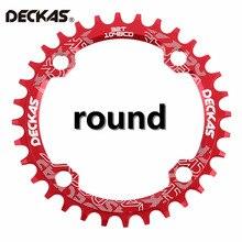Deckas узкий широкий велосипед рукоятка MTB круглый Овальный передняя звезда цепь кольцо велосипедная Звездочка велосипед круг одной пластины 32 т/34 Т/36 т/38 т