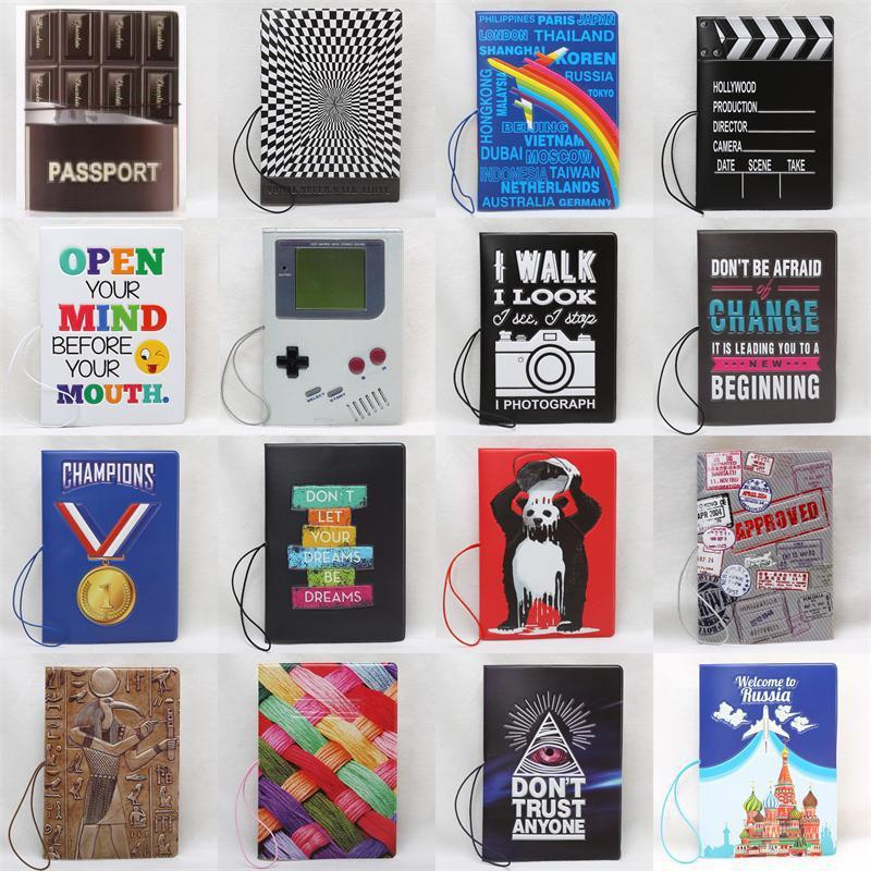 2019 New Arrival New Pattern Passport Covers Fashion Style PU Leather Credit Card Holder Passport Wallets Passport Holder 14*10