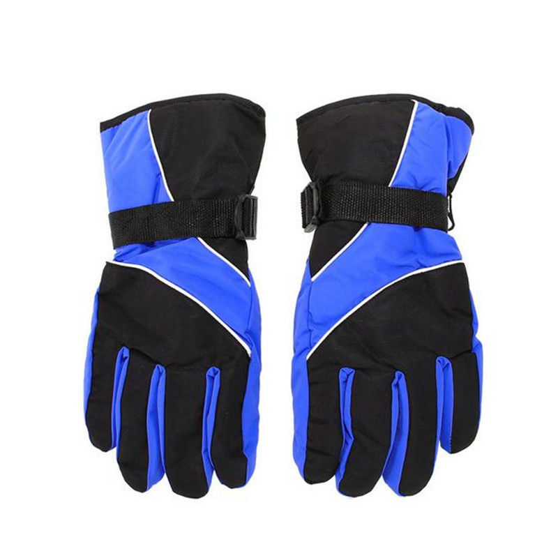 Vertvie Women Winter Gloves Windproof Thermal Warm Glove Fleeced Waterproof Letters Printed Outdoor Sport Skiing Gloves 1Pair