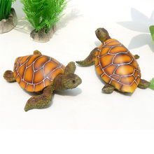 Artificial Polyresin Aquatic Sea Turtle Tortoise Aquarium Ornament Fish Tank Decoration Turtle Decor Turtle Toys(China)