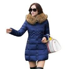 Winter jacket Women 2016 Fashion New winter hooded down jacket fur lined coat Plus size M-4XL Warm Winter parka Women