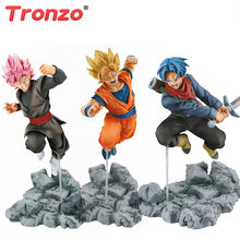 Zamasu Tronzo Action Figure Dragon Ball Goku Trunks PVC Action Figure Brinquedos Modelo Goku De Dragon Ball Super Saiyan Rosa Preto brinquedos(China)