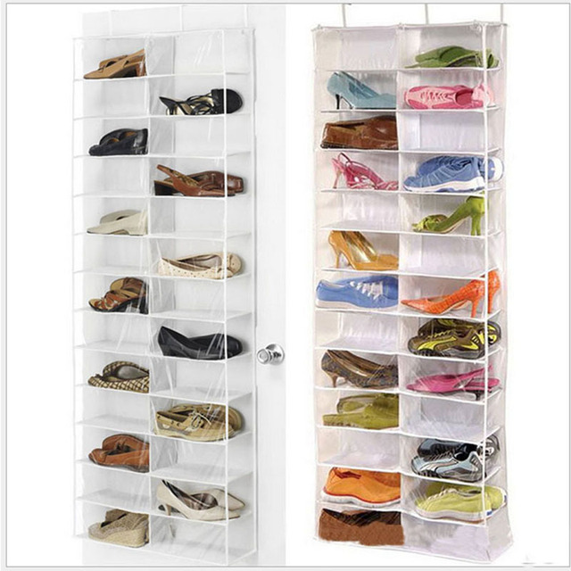 NK Gozip Over the Door Hanging Shoe Organizer Storage Holder Sorter For 26 Pairs Shoes Rack : shoe bin storage  - Aquiesqueretaro.Com
