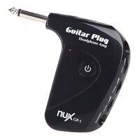 Nux gp-1 elektrische gitaar plug mini hoofdtelefoon amp ingebouwde compacte draagbare