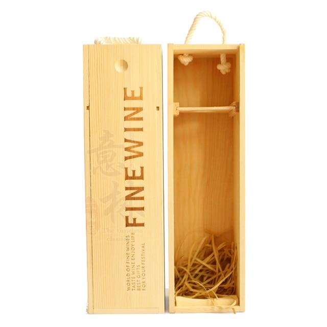 solo embalaje de madera del vino de lujo vino caja de vino de madera caja de