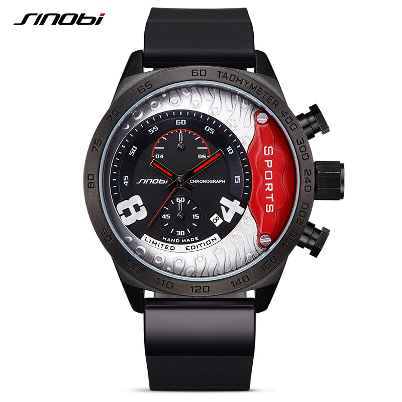 SINOBI Fast Furious Chronograph font b Men b font Sports Wrist font b Watches b font