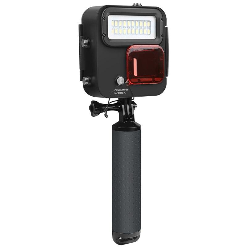 Projecteur de plongée sous-marine étanche 30 m boîtier 1000LM LED projecteur de lumière avec filtre pour caméra d'action