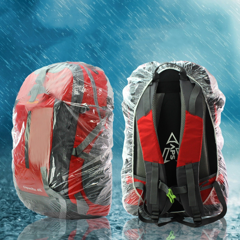 Outdoor Disposable Backpack Cover Large Bike Bag Raincover Rucksack Pack Waterproof Rain Cover Dustproof Cover For Camping Backp