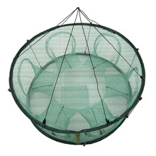 Automatic Fishing Net Trap Cage Round Shape Durable Open For Crab Crayfish Lobster JT-Drop Ship