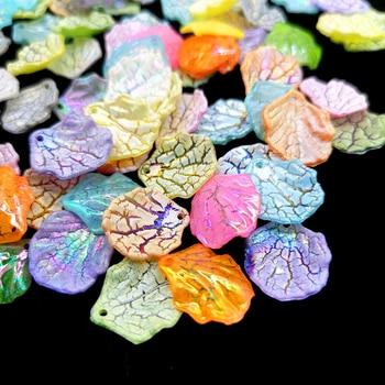 20 шт./лот, модные бусины в виде листьев для изготовления сережек и кулонов, ювелирные изделия ручной работы, поделки|Бусины|   | АлиЭкспресс