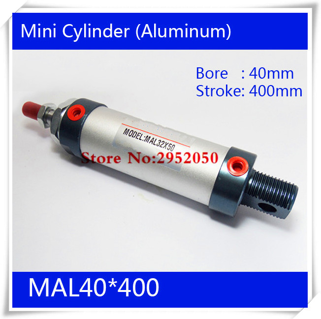 ФОТО Free shipping barrel 40mm Bore400mm Stroke MAL40*400 Aluminum alloy mini cylinder Pneumatic Air Cylinder MAL40-400
