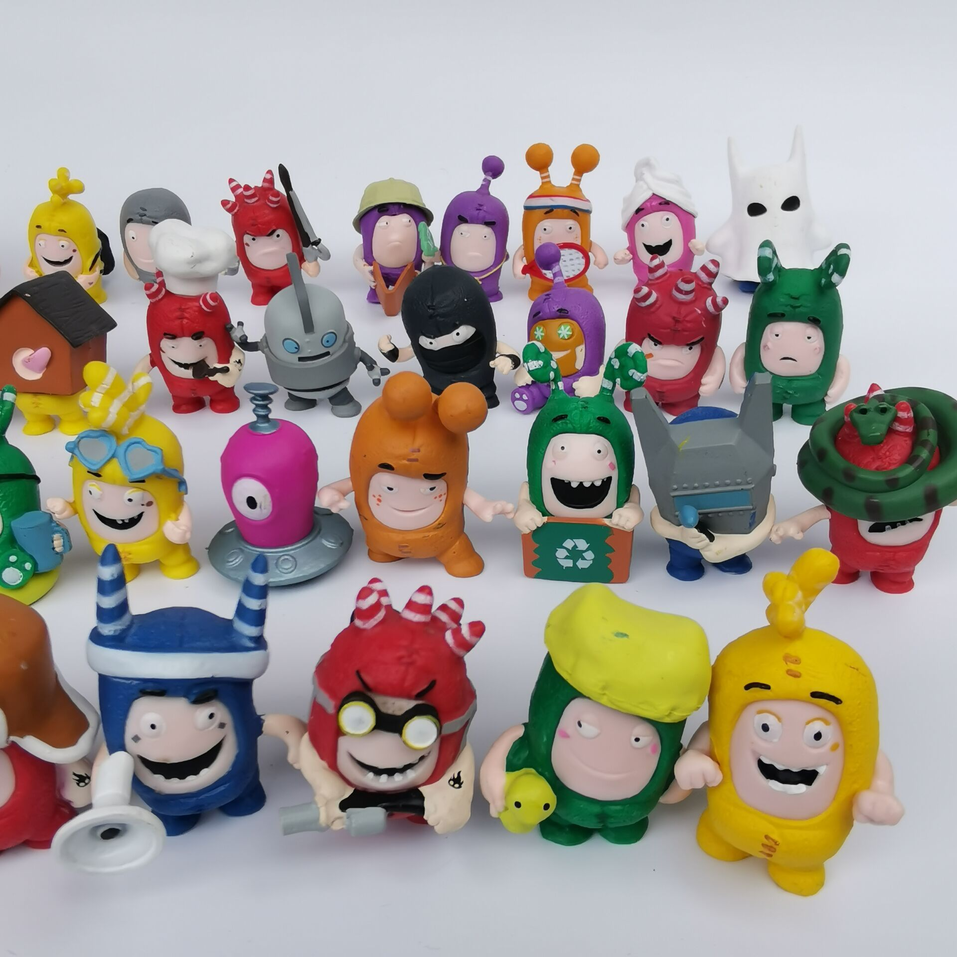 Action-Figure-Toys Model Doll Jeff Oddbods Collecting Kids Mini Cartoon for Boy Juguete