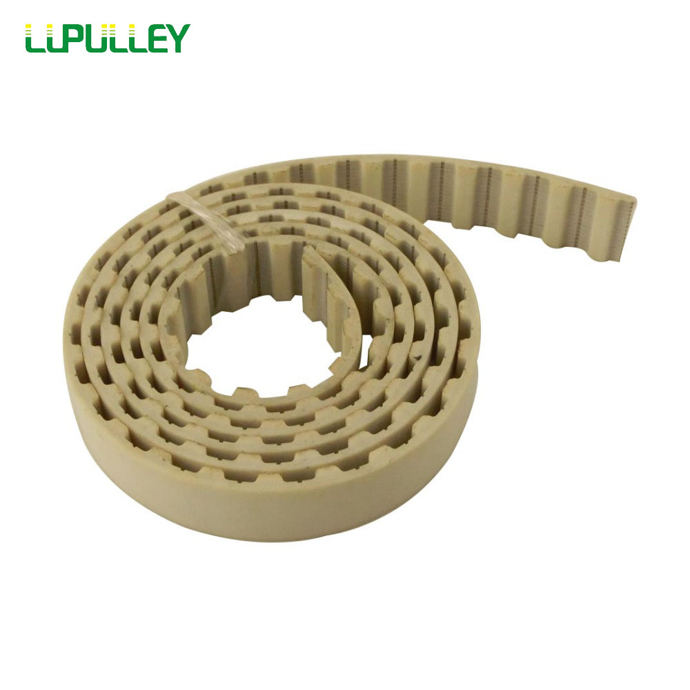 LUPULLEY H Belt Type 25mm Width PU Open Timing Belt 1M/2M/3M/4M/5M/6M/7M/8M/9M/10M Pitch Length H-25mm Open Pulley Belt