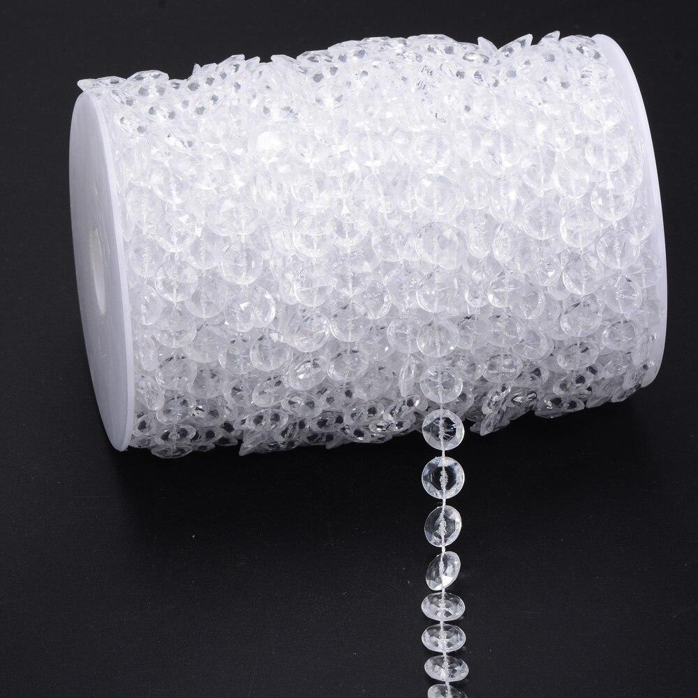 Goede 10 Meters Garland Diamond Strand Acryl Kristal Kralen Bruiloft QR-04
