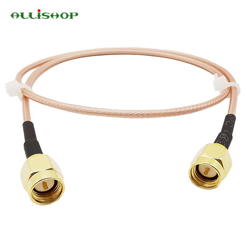 ALLiSHOP SMA macho a SMA macho RG316 cable Pigtail 5 cm/10/15/30/50 cm/1 m SMA macho de crimpado de La FPV RG316 Cable de 50 ohmios