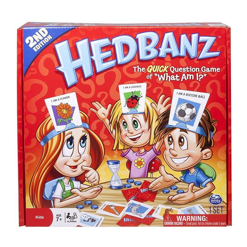 HedBanz édition de jeu peut varier la Question rapide de ce que je suis cartes jeu de société devinez qui nouveauté jouets drôles
