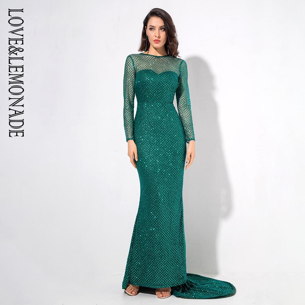 Forme Perles Vert Limonade Green Manches Poisson De Treillis Dos Ouvert white Lm1066 Longues Robe Amour Queue purple Longue Et E7qHvv