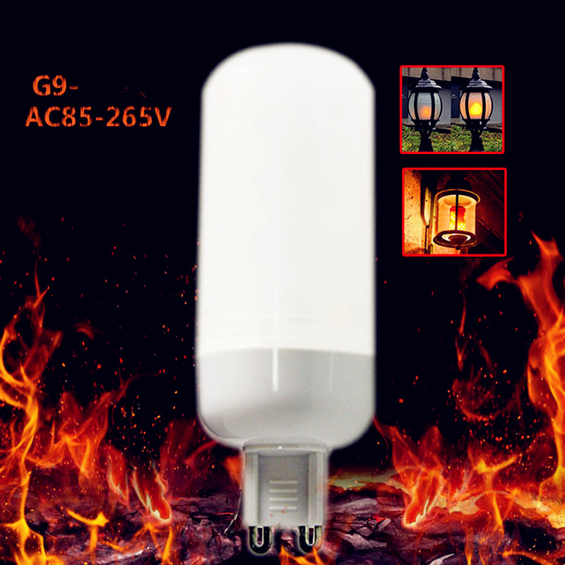 G9 LED Effect Flickering Flame lamp 3W AC85-265V 1400-1800K Decor light 5pcs free shipping