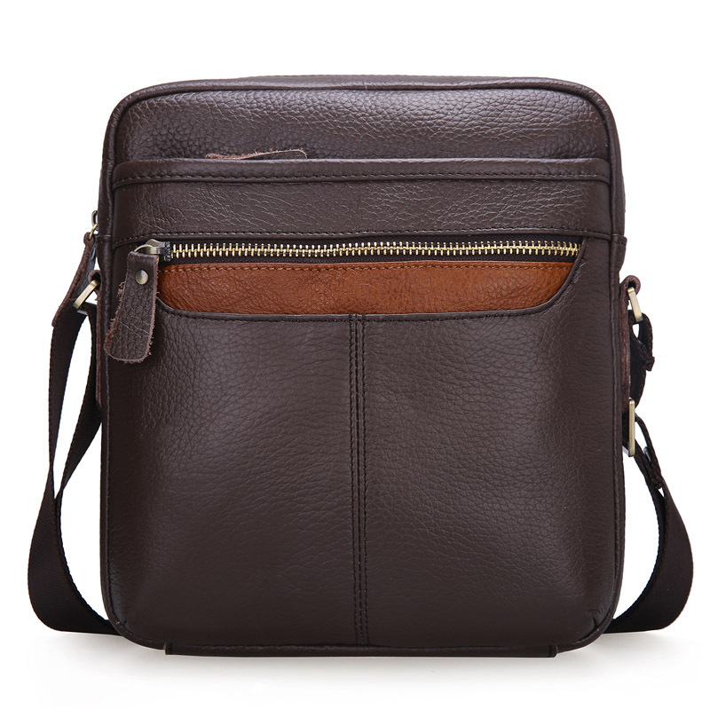 ФОТО  CHEERSOUL Mens  Crossbody Shoulder Bags High Quality Genuine Leather Man Chest Pack Fashion Chest Bag Male Messenger Travel Bag