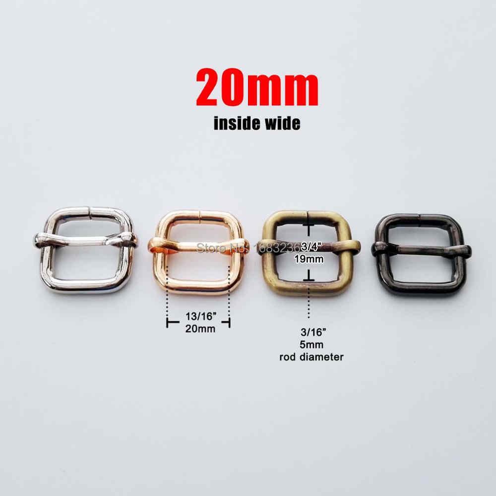 DIY โลหะ Heavy Duty ความหนาหนังกระเป๋าเข็มขัด Web สี่เหลี่ยมผืนผ้าปรับ Tri-Glide หัวเข็มขัด Slider LOOP D แหวน