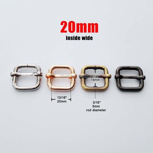 DIY Metal Heavy Duty Thickness Shoulder Leather Bag Strap Belt Web Rectangle Adjust Tri-glide Pin Buckle Slider Loop D Ring