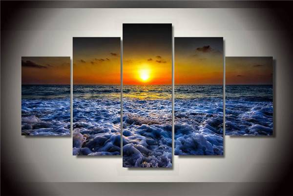 Hd Printed Seascape Sunset Beach Sand Painting On Canvas Room Decoration  Print Poster Picture Canvas Free Shipping/Ny 1473 NO In Painting U0026  Calligraphy From ...