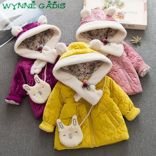 5a324c6c0 WYNNE GADIS Winter Warm Baby Girls Cartoon Rabbit Hooded Christmas ...