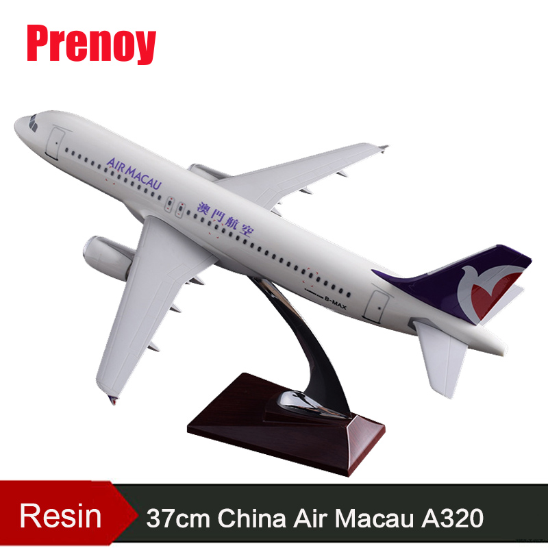 37cm Resin China Macau Airlines Airbus Model A320 Airplane Airways Model Chinese Macau Plane A320 Model Aviation Stand Craft Toy pre sale phoenix 11228 tibet airlines b 1682 1 400 a320 w commercial jetliners plane model hobby