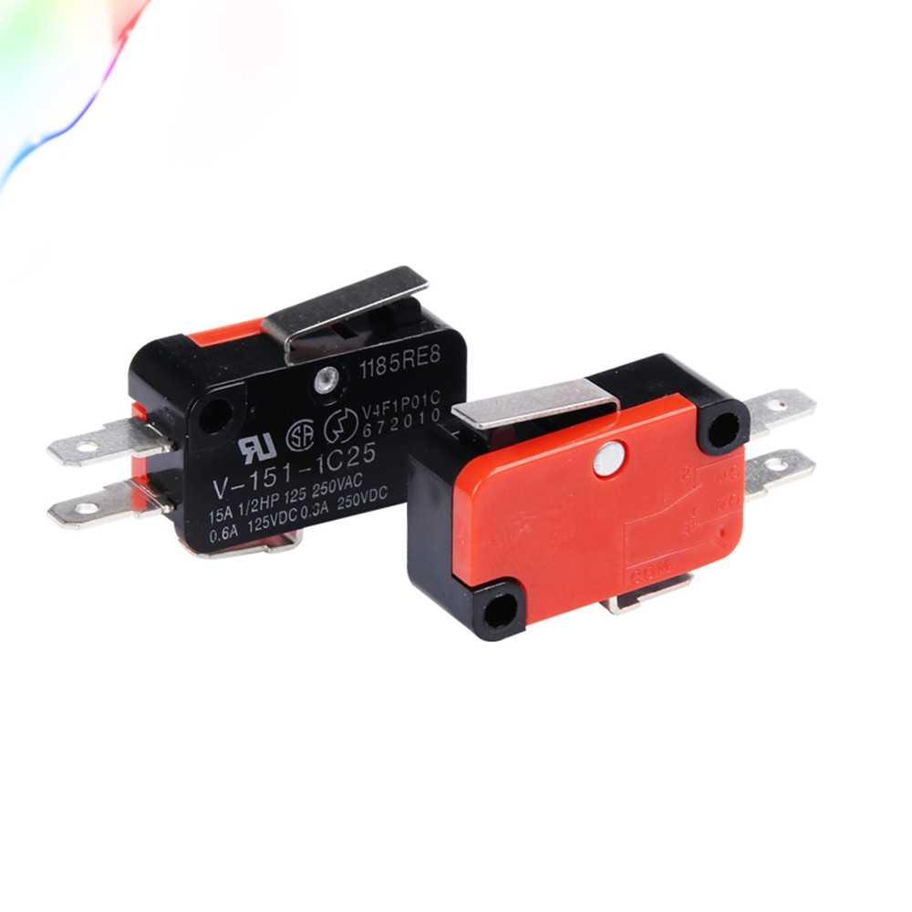 1Pcs V-151-1C25 Micro Limit Switch SPDT NO NC Snap Action AC 125/250V