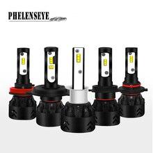цена на Mini8 LED Car Heallight Philips-ZES Chip 80W 6000K 9600LM H1 H8 H9 H4 Hi-Lo Beam H7 H11 9005 9006 Auto foglight Headlamp Beam