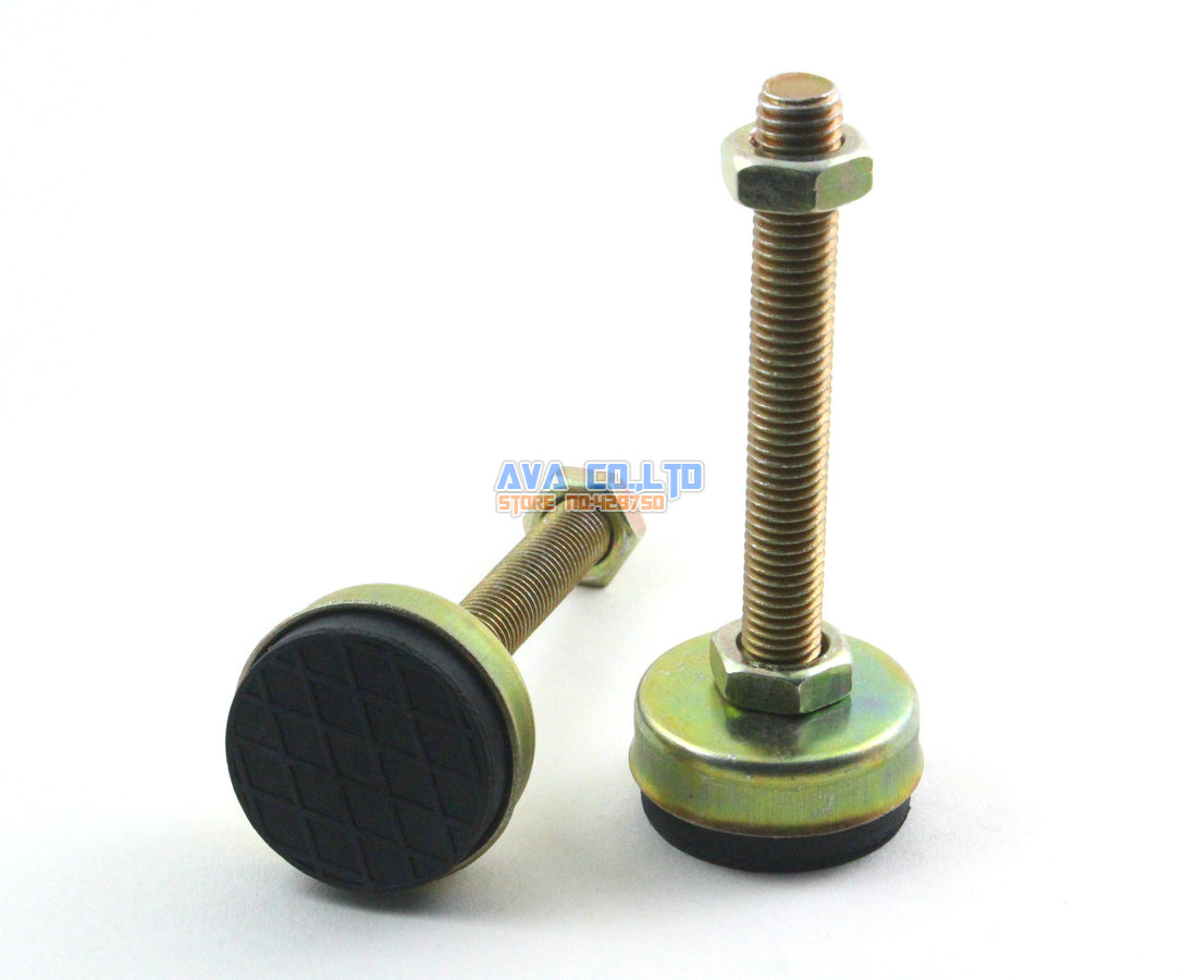 4 pieces 43mm base m12x95mm adjustable anti slip lathe leg