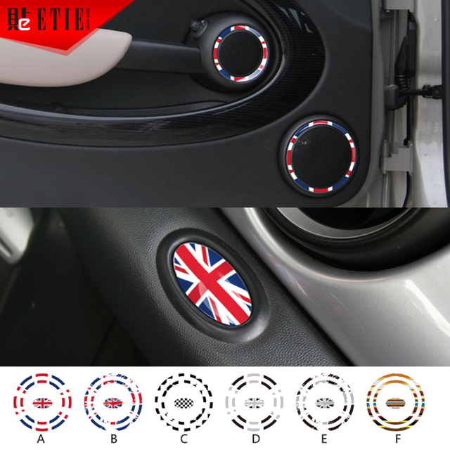 Etie mini stereo sticker custom car styling vinyl pvc paper sticker printing auto wrap decals adhesive