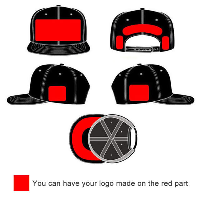placeholder Custom Camo Snapback Trucker Caps Free 3D Embroidery Printed  Logo Black Mesh Hat Flat Bill Adjustable a31e585d745e