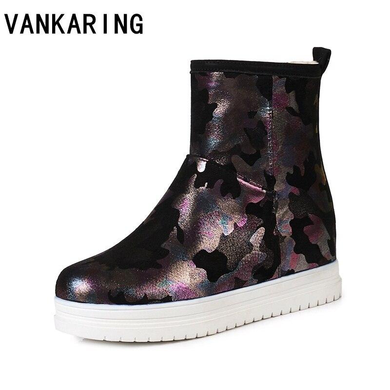 Automne hiver bottes marque qualité femmes neige bottes fausse fourrure semelle dame chaud chaussures fille mode belle lookin plate-forme bottines