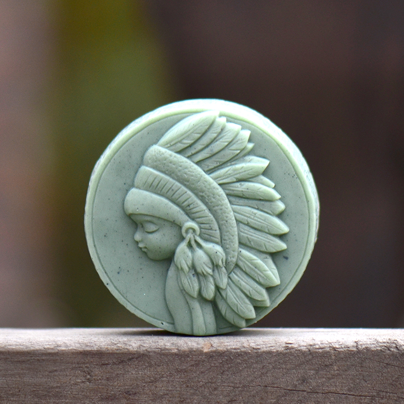 Nicole Round Silicone Soap Mold for Natural Handmade Chocolate Candy Mould Mori Girl SeriesNicole Round Silicone Soap Mold for Natural Handmade Chocolate Candy Mould Mori Girl Series