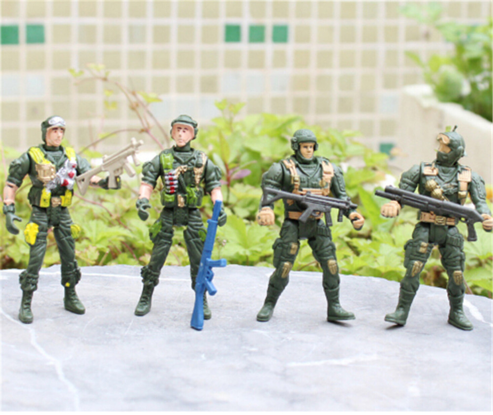 Mobility Soldier Toys 9cm Military Sandbox Model Playset Special Force Action Figures Kids Toys Plastic Soldier Men Randomly