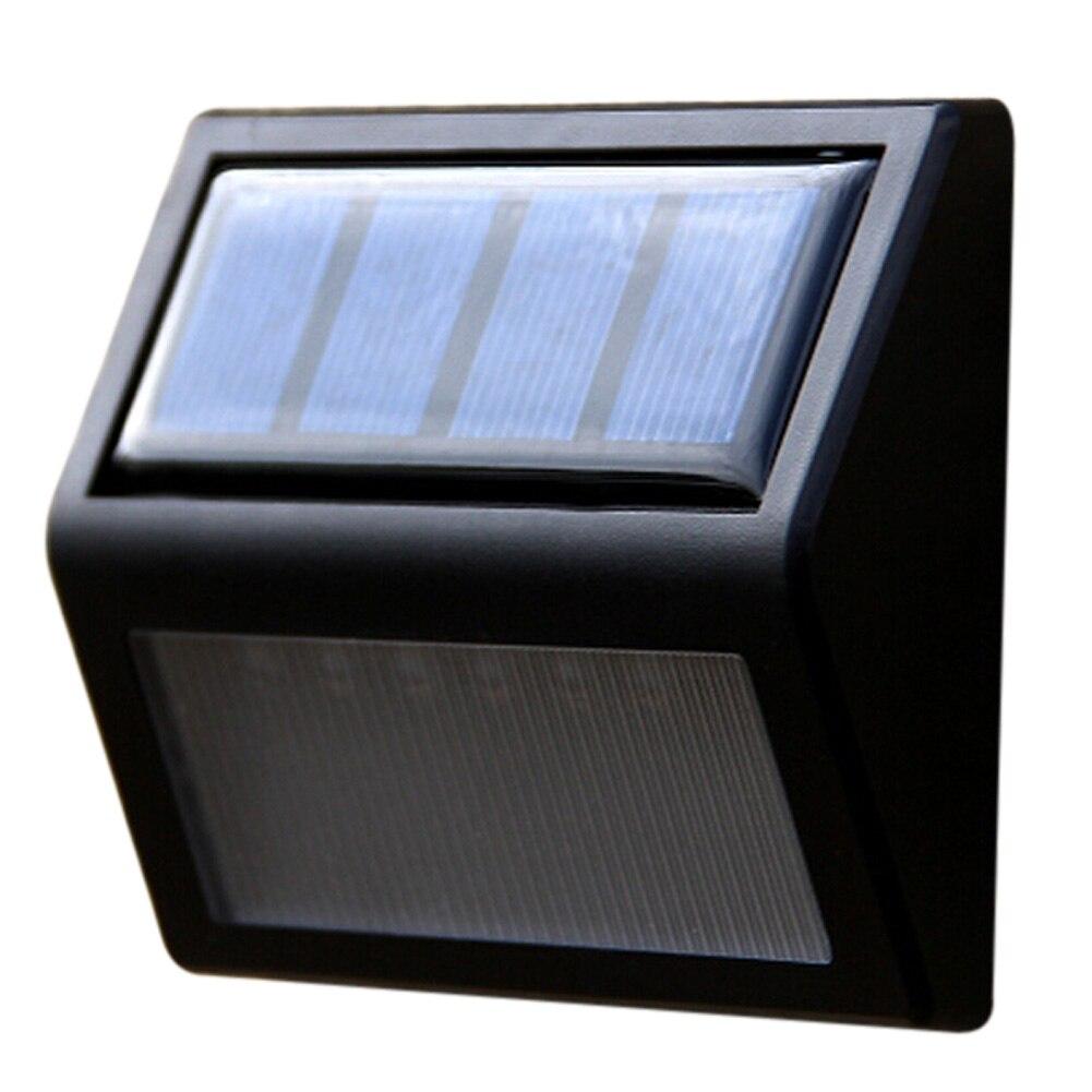 Waterproof 6 LEDs Solar Powered Wireless Wall Mounted Light Outdoor Garden Waterproof Lawn Lamp Wall Light Secuirty Light