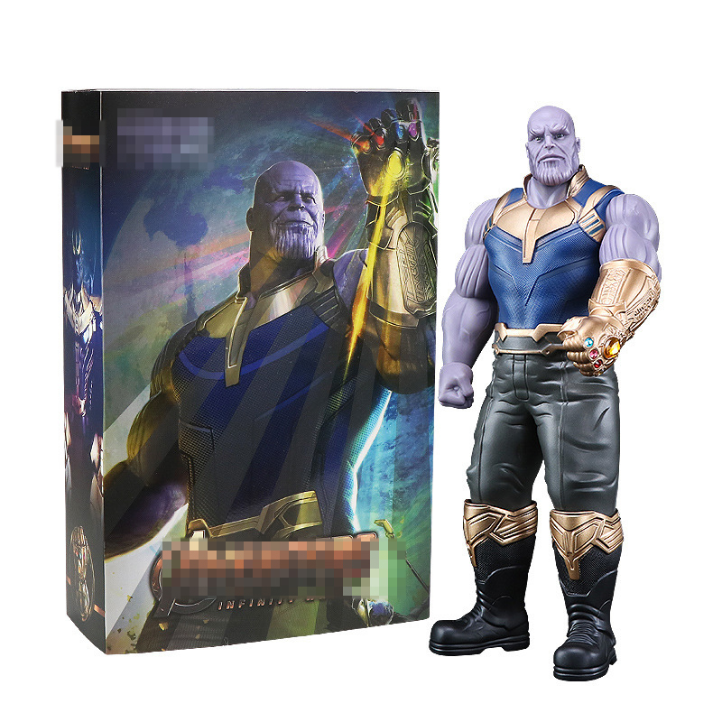 33cm Action Figure Super Heroes Collectible Model PVC Figure Kids Thanos Figure Garage Kit Children Toys Adults Birthday Gift dc comics super heroes superman pvc action figure collectible model toy gift for children 7 18cm free shipping