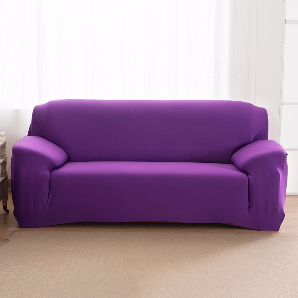 1Pc New L Shape Innovative Textile Spandex 2 Seaters Sofa