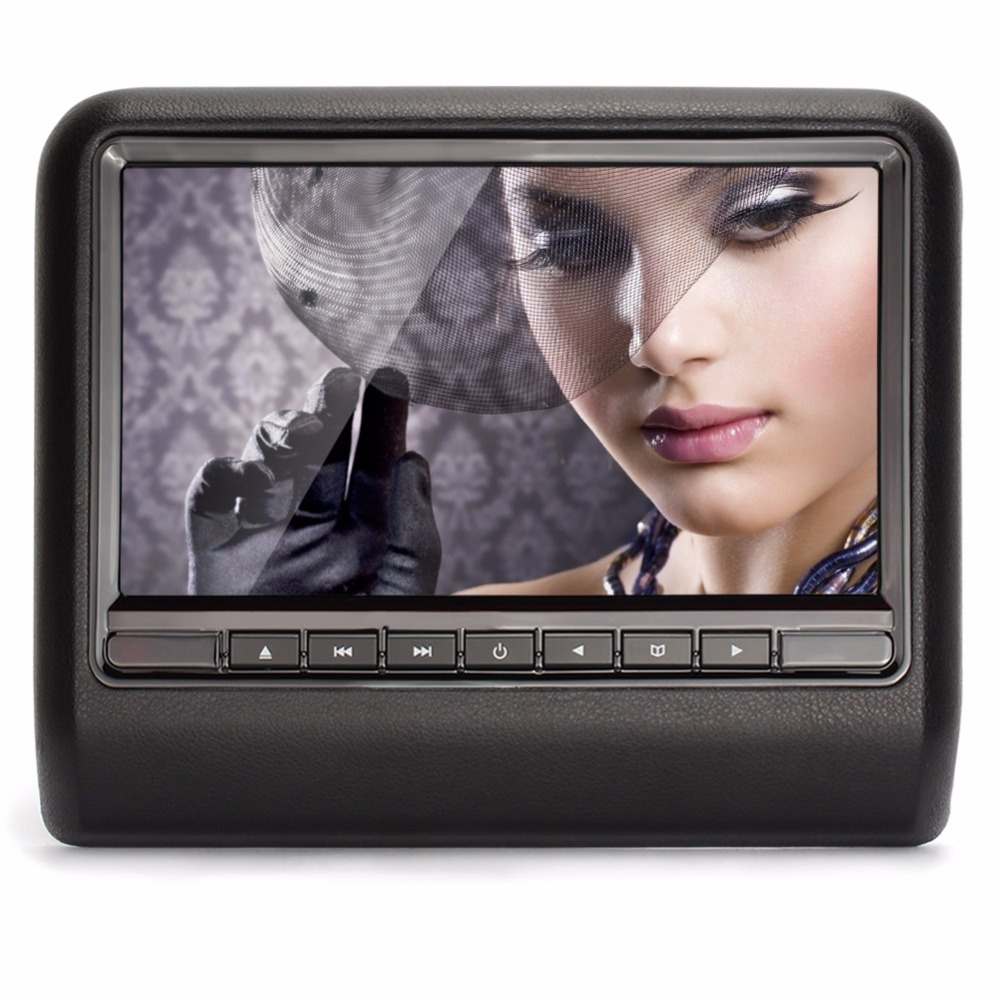 Universal 10.1 Inch car headrest monitor DVD Player IR FM USB SD MP3 Multimedia Portable Monitor Black