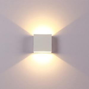 Image 4 - Led 벽 램프 6 w 디 밍이 가능한 머리맡 sconces 110 v 220 v 거실 연구 계단 실내 조명기구 호텔 통로 장식